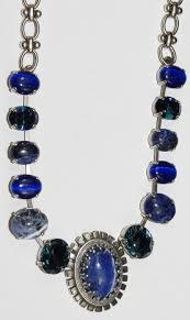 necklace stone setting images Mariana necklace mood indigo blue mineral stones in silver JPG