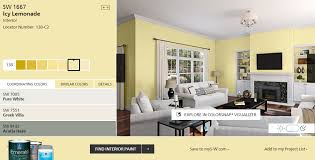 may color of the month sherwin williams icy lemonade