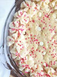 sweetheart funfetti sugar cookie cake together as family
