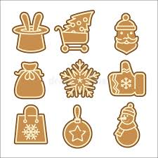 christmas cookie vector icons set stock vector image 47760236