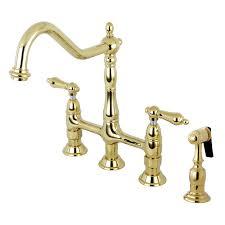 kitchen bridge faucet kingston brass ks1272albs heritage kitchen bridge faucet with