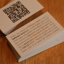 Business Card With Qr Code Qr Codes And Business Cards U2013 Part 1 Online Printing