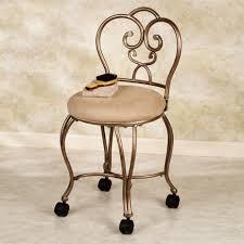 furniture popular design bathroom vintage vanity chair with wheels