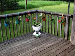 exterior mesmerizing exterior using deck rail planters with