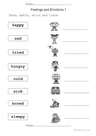 617 free esl feelings emotions worksheets