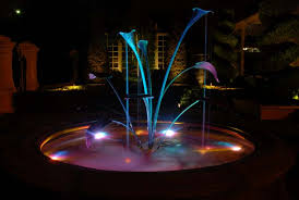 outdoor water features with lights garden lighting adelaide homestyle solutions