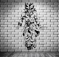 dragon ball z broly saiyan anime manga from wallstickers4you wall mural vinyl decal sticker m391 full size
