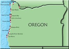 map of oregon lighthouses oregon map