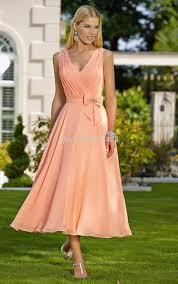 aliexpress com buy new arrival elegant chiffon tea length peach