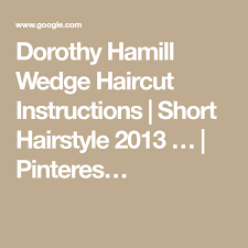 the wedge haircut instructions dorothy hamill wedge haircut instructions short hairstyle 2013