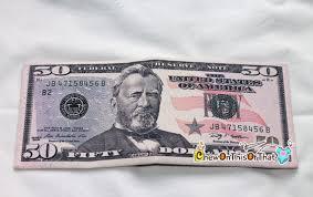 new year dollar bill 50 dollar bill money wallet for males ulysses