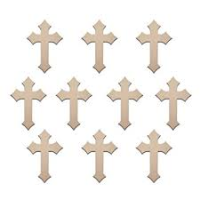 wooden craft crosses bulk lot 50 count diamond 6 x 4 wood cross