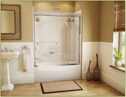 4 ft shower doors 4 ft bathtub shower combo home design ideas