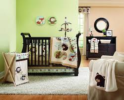 bedroom fascinating lime green baby nurser decor with animal