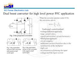 uci power electronics lab control of a dual boost power factor
