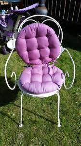 Shabby Chic Cushions Uk by Vintage Shabby Chic Style White Metal Bedroom Chair Purple