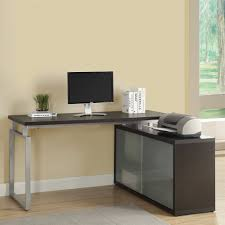 gaming l shaped desk workspace monarch specialties desk writing desk with hutch