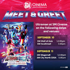 sm southmall movie guide sm cinema u0027s meet u0026 greet ultraman ginga jefusion