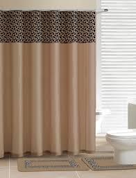 Leopard Bathroom Rugs Contemporary Bath Shower Curtain 15 Pcs Modern Bathroom Rug Mat