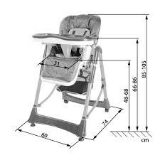 chaise pour bébé chaise haute pour bébé enfant grand confort pliable tectake