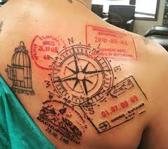 travel tattoos images 13 beautiful travel inspired tattoos that will give you instant png