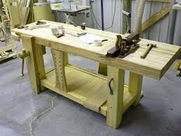 Carpentry Work Bench Garage Wood Workbench Plans Best House Design Good Wood