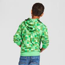 boys u0027 minecraft creeper hooded sweatshirt kelly green target