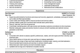 Salon Manager Resume Gym Manager Resume Examples Reentrycorps