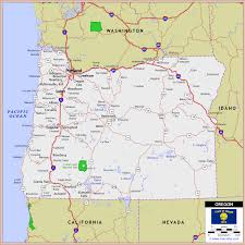 interstate printout map vs oregon state oregon travel