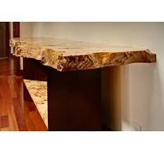 burl wood console table custom bamboo and livewood edge mappa burl hall console table by
