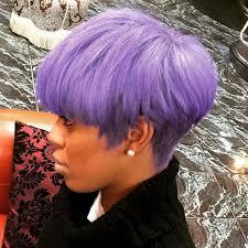 60 great short hairstyles for black women pastel purple black