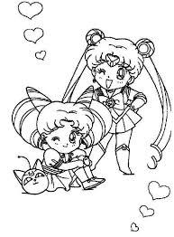 sailor moon sailor chibi moon coloring color luna