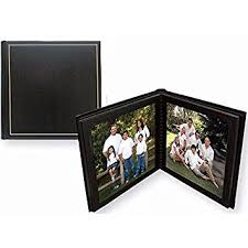 8x10 photo album professional parade black gold slip in mat photo album