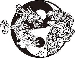 dragon and tiger yin yang tattoo on back tiger dragon yin and
