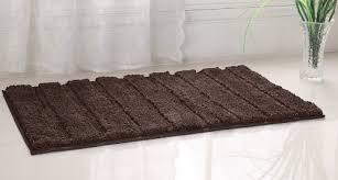 Brown Bathroom Rugs Westbrook High Pile Microfiber Bath Rug 21x34 Brown By