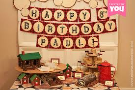 lumberjack birthday collection print at home birthday party