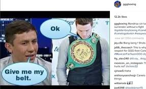 Canelo Meme - photos golovkin ramirez ridicule canelo over vacating wbc belt