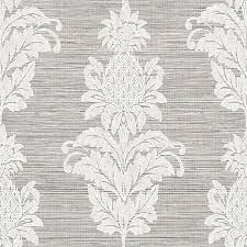 pineapple grove grey damask wallpaper ps40710 traditional