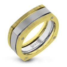 the gents wedding band 14k white yellow gold two tone men s wedding band simon g