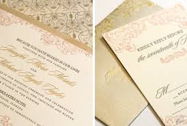 wedding invitations gold pink and gold wedding invitations marialonghi