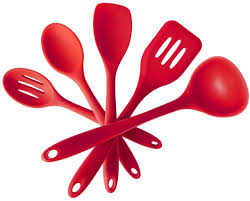 ustensile de cuisine en silicone 5 pcs silicone cuisine ustensile de cuisine spatules cuillères et