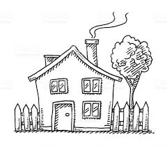 drawing home little cartoon house drawing stock vector art more images of