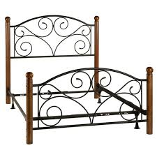 Wood And Wrought Iron Headboards Wrought Iron And Wood Scrollwork Bed Sturbridge Yankee Workshop