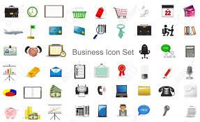 activit de bureau activité de marketing financier d affaires et le bureau fixe icône