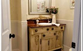 powder room makeover idea using a stencil hometalk
