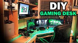 ultimate diy gaming desk youtube