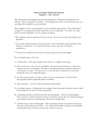 Sample Essay Outline Format Paper Thesis Example
