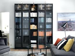tall bookcase with glass doors white bookcase glass doors jbindustries co