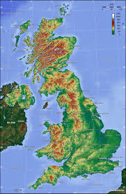 Topographical Map Of South America by Map Of United Kingdom Topographic Map Worldofmaps Net Online