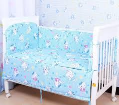 6 pcs sets cartoon baby bedding bumper breathable crib liner